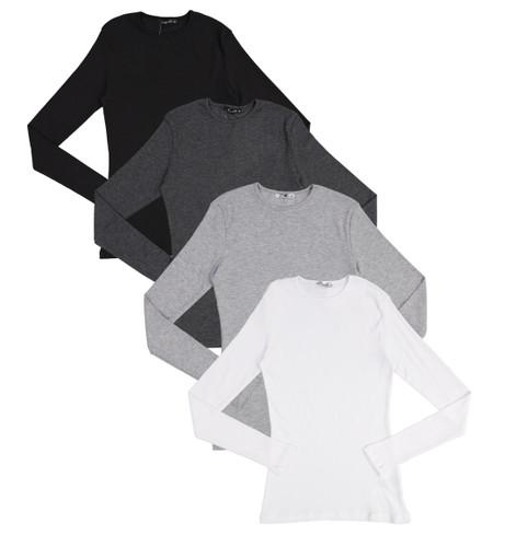 Kiki Riki Womens Ribbed Long Sleeve T-shirt - 27936