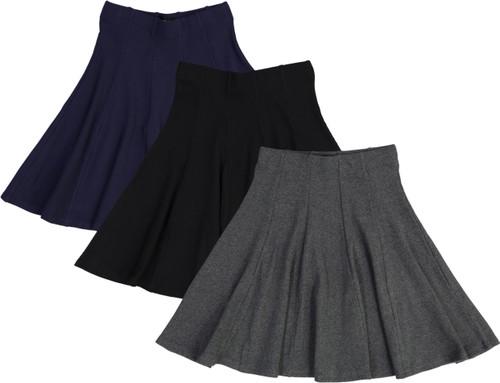 BGDK Girls Ribbed Panel Skirt - BK-1610