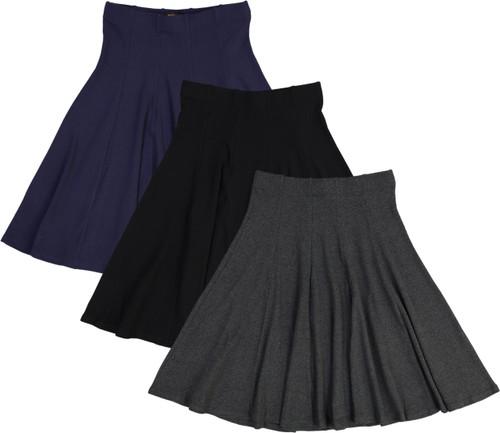 BGDK Womens Ribbed Panel Skirt - BK-1610A