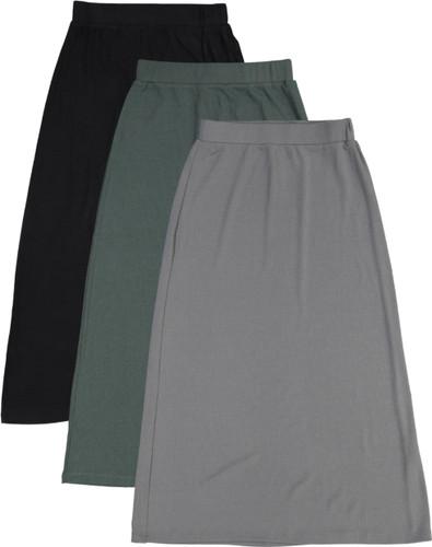 Girls Long Ribbed Skirt - BK-JH252