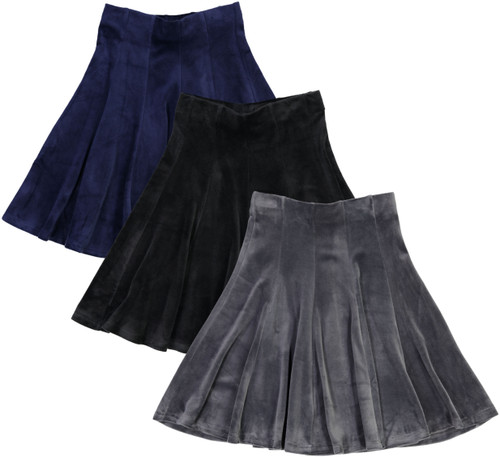 Girls Velour Panel Skirt - BK-JH266