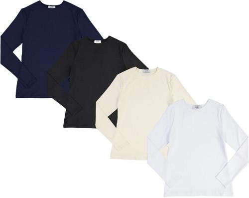 Girls Lycra Long Sleeve Shell T-shirt - JH-261
