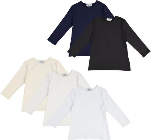 Girls Lycra 3/4 Sleeve Shell T-shirt - JH-261Q