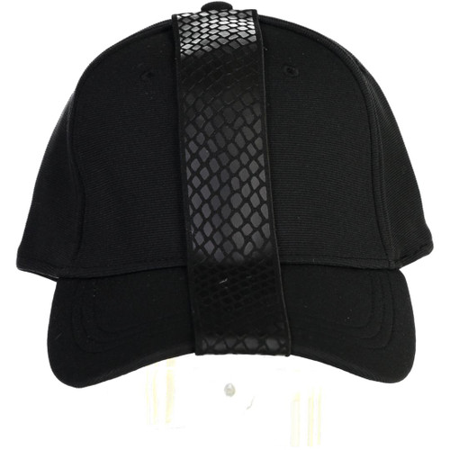Riqki Black Snakeskin Cap