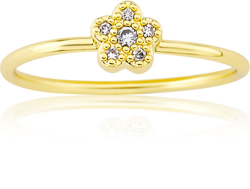 LMTS Girls Gold-Plated Flower Ring - RG6016B-GP
