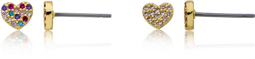 LMTS Girls Crystal CZ Filled Heart Stud Earring - ER6846B