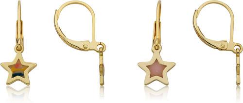 LMTS Girls Transparent Star Dangle Earring - ER6851B-GP