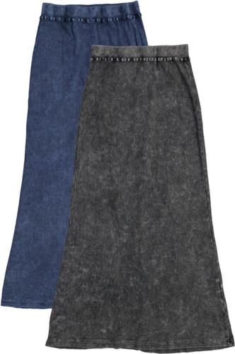 Kiki Riki Girls Ribbed Stonewash Long Skirt - 41965
