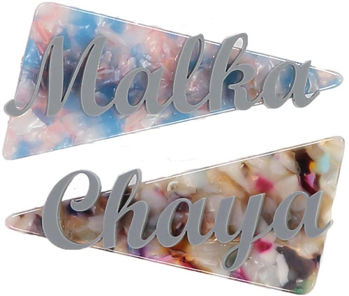 Custom Acrylic Name on Triangle