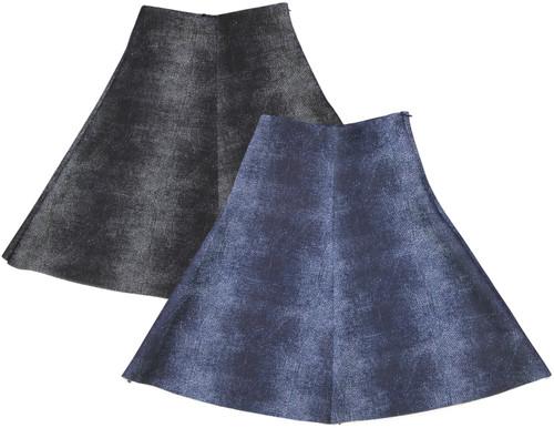 BGDK Girls Denim Scuba Skirt
