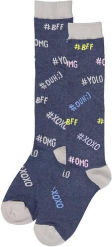 Bimbam Girls Hashtag Knee Sock - BBHST
