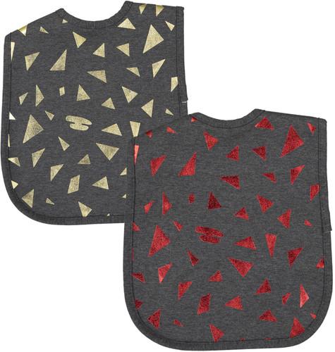 ArGail Foil Triangles Bib - BB14E