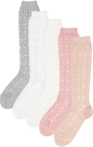 Condor Girls Patterned Crochet Knee Socks - 2507/2