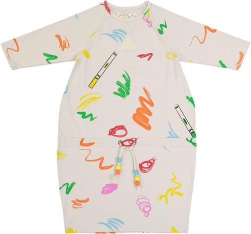 Teela Girls Scribble Bubble Dress - 10-005