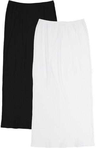 BGDK Womens Long Thin Ribbed Straight Skirt - GM-5021