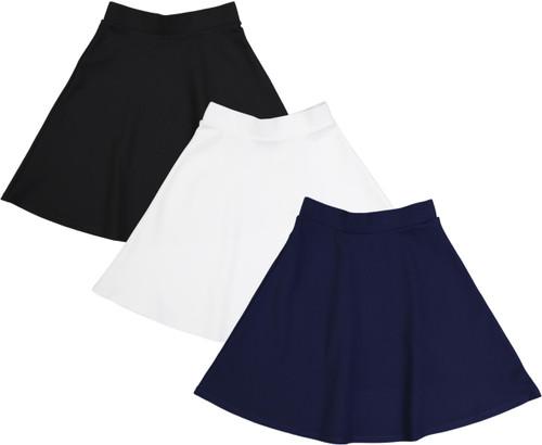 BGDK Girls Elastic Waist A-Line Skater Skirt - GM-5152