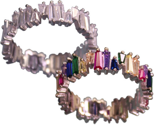 Studded Crystal Ring - R00174