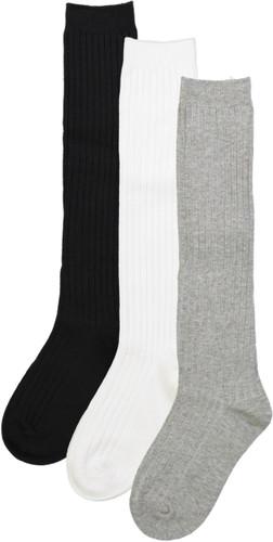 Spot On Basics Girls Ribbed Cotton Knee Socks - SP-1039