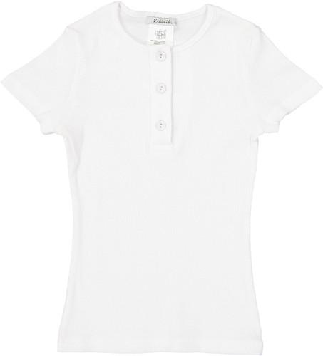 Kiki Riki Girls Ribbed Short Sleeve Henley T-shirt - 28674