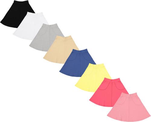 Girls Cotton A-Line Skirt - BK-JH336