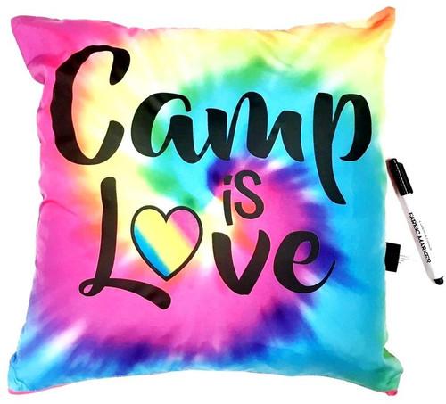Bunk Junk Camp is Love Rainbow Autograph Pillow - BJ934