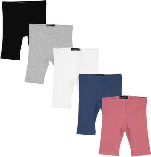 Delore Baby Toddler Boys Girls Unisex Diagonal Ribbed Shorts - DE-1608S