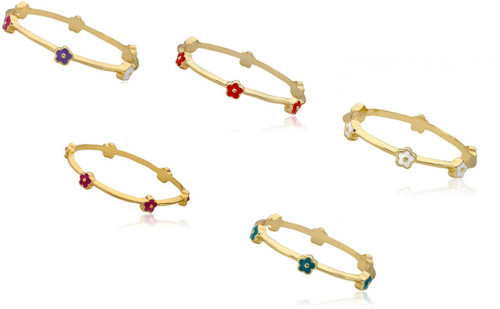 LMTS Girls Stackable Stunners Dainty Flower Bracelet - BN0353B-GP
