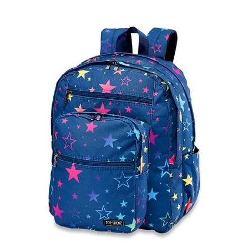 Top Trenz Rainbow Star Canvas Backpack  - BP-RAINSTR5
