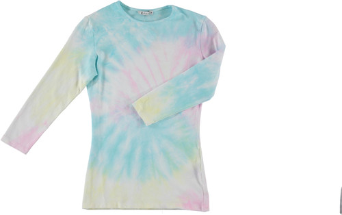 Kiki Riki Womens 3/4 Sleeve Tie Dye T-Shirt - 29266