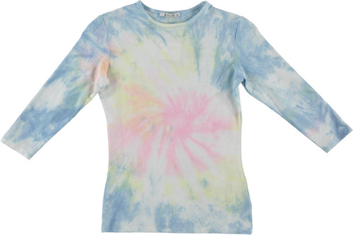 Kiki Riki Womens 3/4 Sleeve Tie Dye T-Shirt - 29270