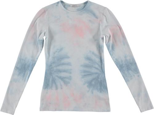 Kiki Riki Womens Long Sleeve Tie Dye T-Shirt - 29274