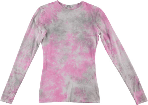 Kiki Riki Womens Long Sleeve Tie Dye T-Shirt - 29276