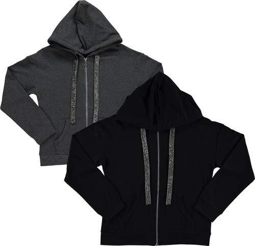 BGDK Womens Embellished Cotton Hoodie - SE-610