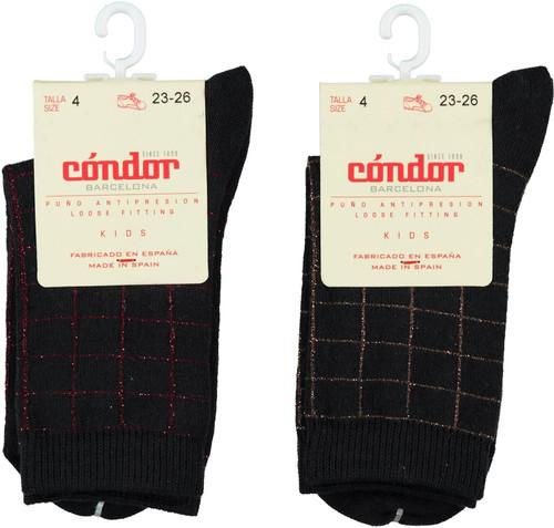 Condor Boys Lurex Checked Crew Socks - 3872/4