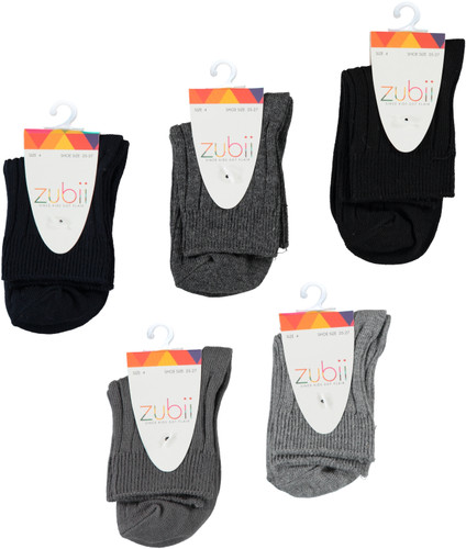 Zubii Girls Cotton Ribbed Crew Socks - 139R