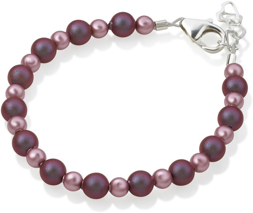 Crystal Dream Purple & Rose Bead Bracelet - B1913-S