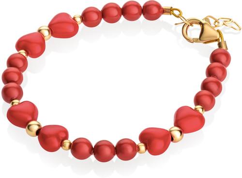 Red Heart Bow Bracelet - B1900-S