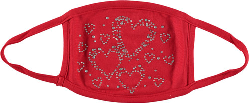 Adult Womens Stud Hearts Face Mask - DH-6