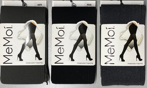 Womans Ribbed Opaque Tights - MO-124