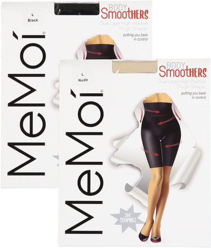 Memoi Womens Dual Layer High-Waisted Thigh Shaper - MM-516