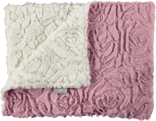 Luxe Rose Rosewood/Luxe Rose Ivory Blanket-SB2