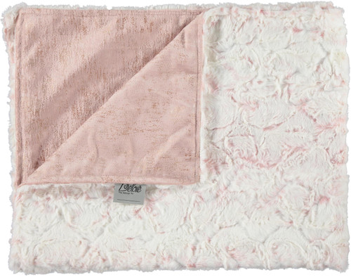 Velour Gala Blush/Luxe Crackle Rosewater Blanket-SB10