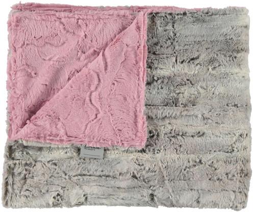 Luxe Rosewood/Silver Fox Blanket-SB11