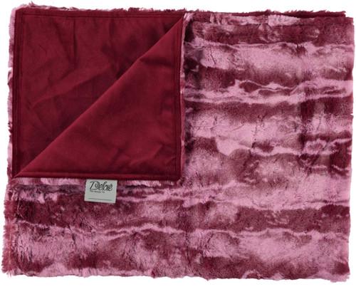 Solid Burgundy/Jupiter Wine Blanket-SB13