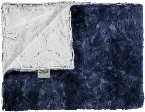 Luxe Crackle Navy/Luxe Tie-Dye Blue Blanket-SB15