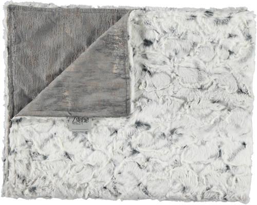 Velour Gala Steel Gray/Luxe Crackle Charcoal Blanket-SB17