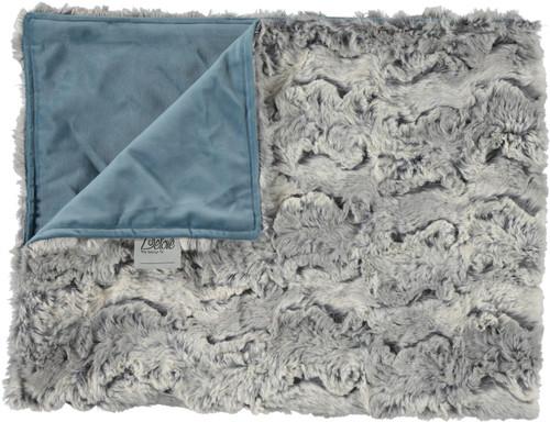 Glacier Gray/Velour Dusty Blue Blanket- SB18