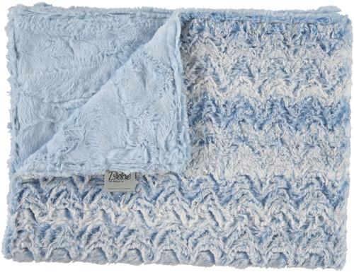Luxe Light Blue/Paloma Chambray Blanket-SB19