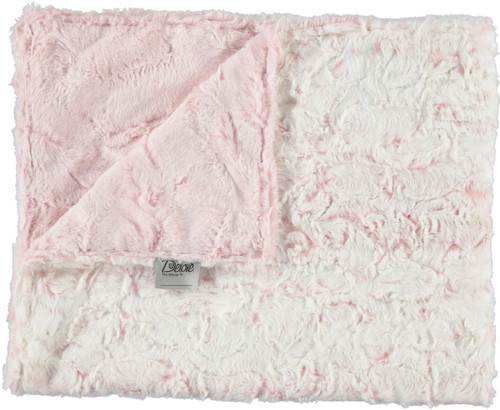 Luxe Rosewater/Luxe Crackle Rosewater Blanket-SB20