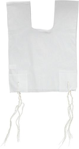 Keter Judaica Mens 100% Cotton Round-Neck Tzitzis with Ashkenaz Strings